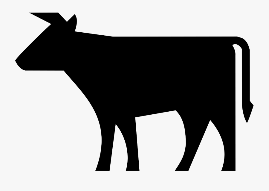 Angus Cattle Beef Cattle Farm Animals - Cow Silhouette Clip Art, Transparent Clipart