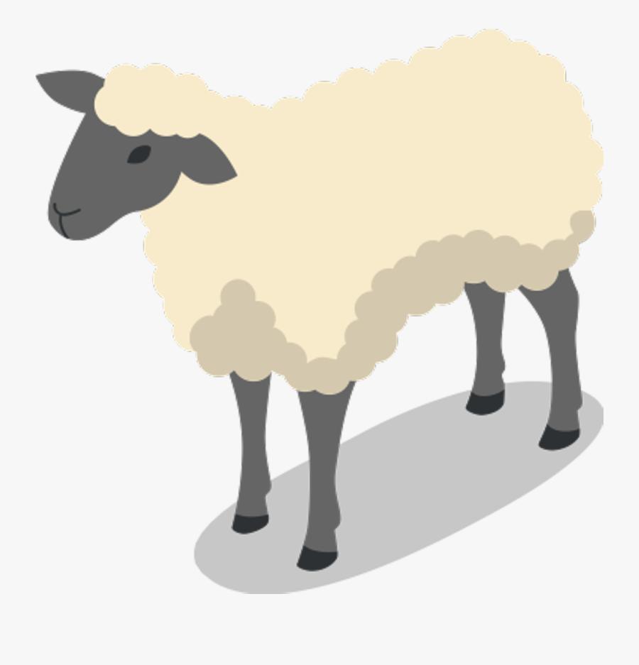 Sheep Animal Farm Clipart , Png Download - Sheep Farm Animal Clipart, Transparent Clipart