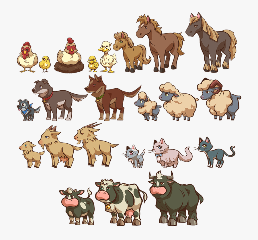 Animal Farm Animals , Png Download - Real Farm Animals Png, Transparent Clipart