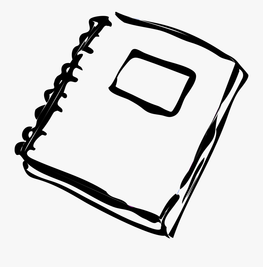 Transparent Notebooks Clipart - Homework Clipart Black And White, Transparent Clipart