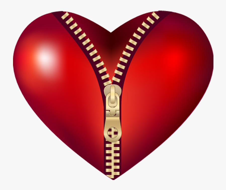 Transparent Red Particles Png - Zip On Heart, Transparent Clipart
