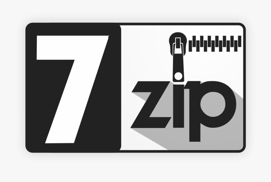 7 Zip Data Compression Archive File Portable Network - 7 Zip Icon Png, Transparent Clipart