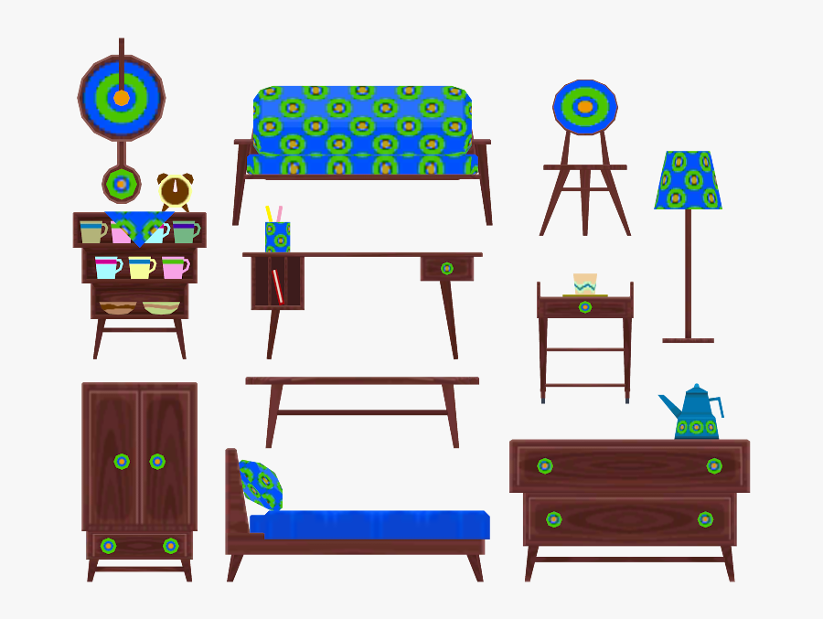 Download Zip Archive - Animal Crossing Furniture Models, Transparent Clipart