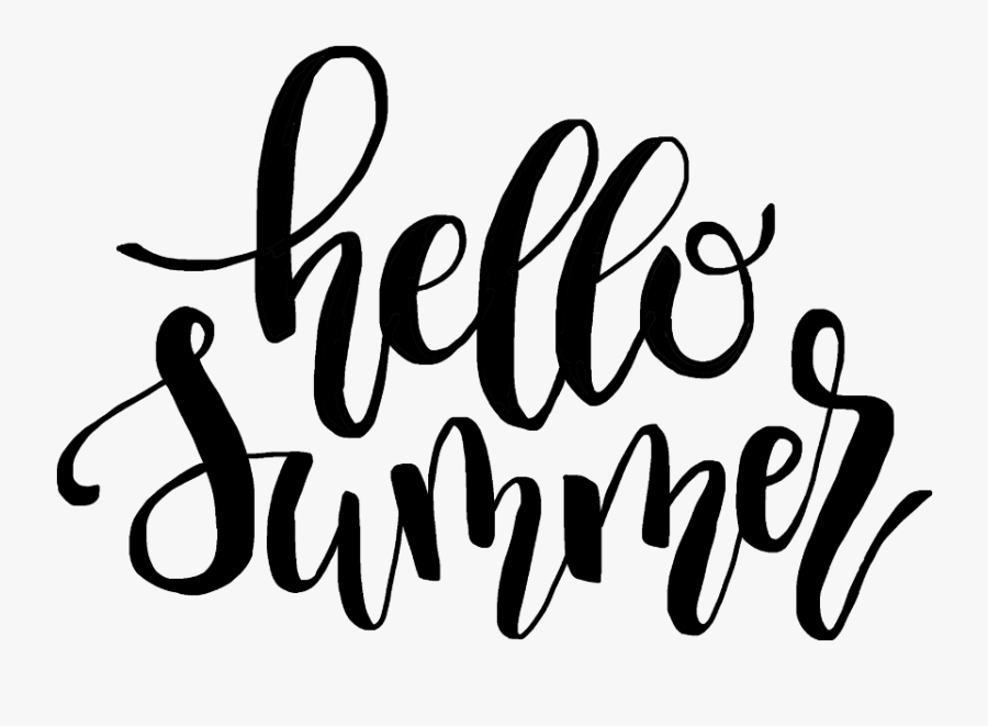 Transparent Hello Summer Png - Summer Label Black And White, Transparent Clipart