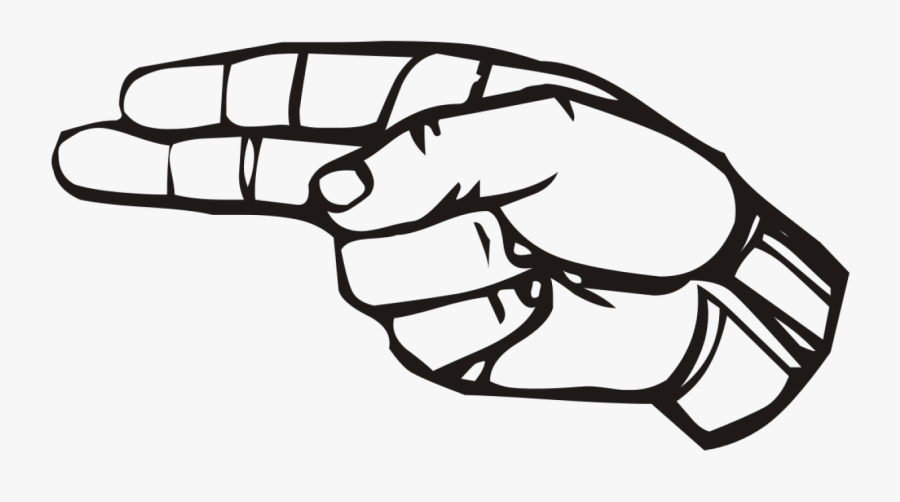 The Way You Your - Sign Language H, Transparent Clipart