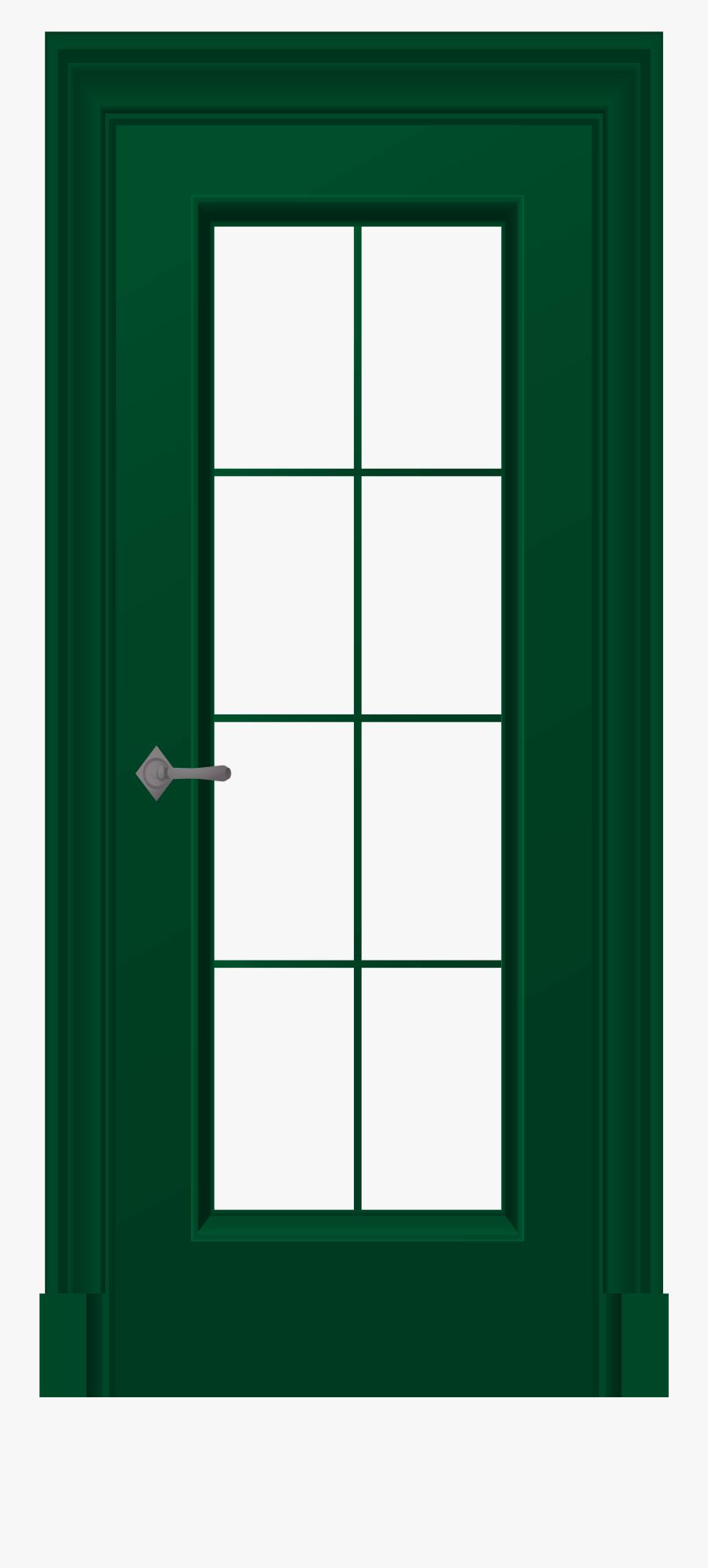 Green Door Png Clip Art - Door And Window Clip, Transparent Clipart