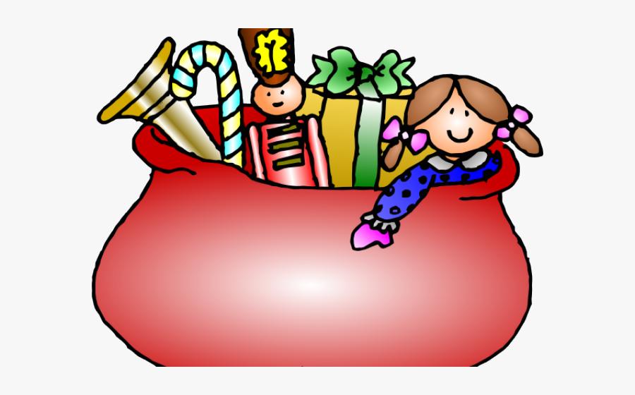 Transparent Golf Bag Clipart - Santa Claus Bag Cartoon, Transparent Clipart