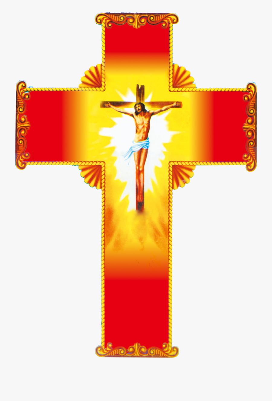 Christian Red Jesus Material - Jesus Cross Hd Images Png, Transparent Clipart