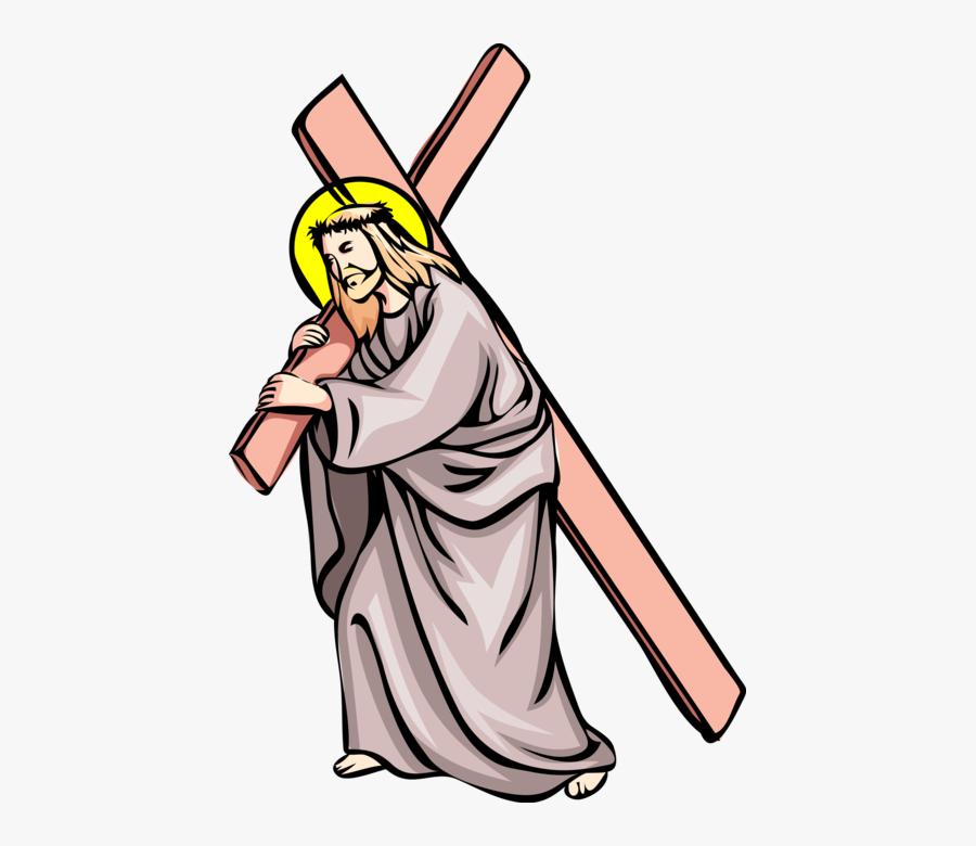 Transparent Crucifixion Of Jesus Clipart - Jesus Carries Cross Clipart, Transparent Clipart