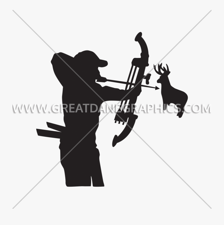 Clip Art Deer Hunter Production Ready - Extreme Sport, Transparent Clipart