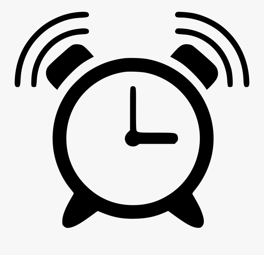 Clip Art,line Art,icon,clock,black And White - Alarm Clock Ringing Icon, Transparent Clipart