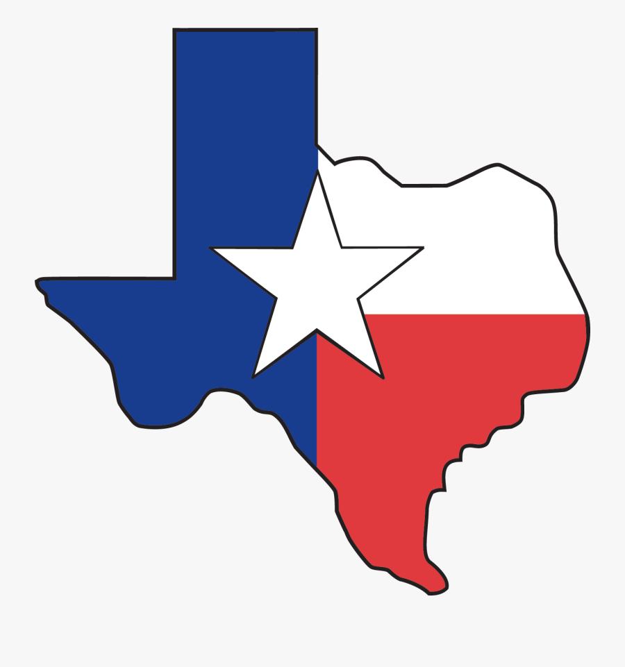 Recorded Books - Texas Flag Texas Shape, Transparent Clipart