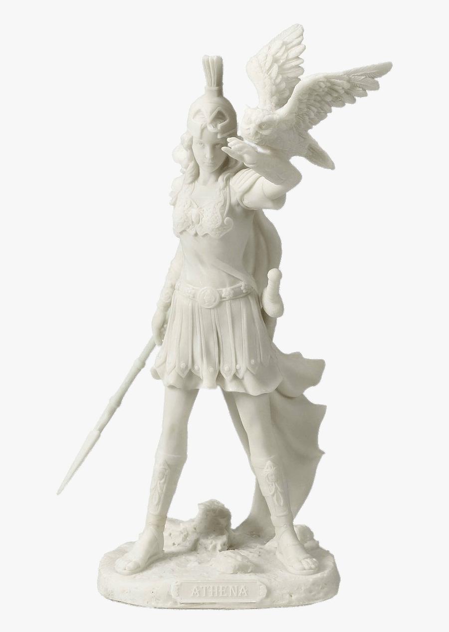 Athena White Figurine Athena Greek Mythology Statues Free Transparent Clipart Clipartkey