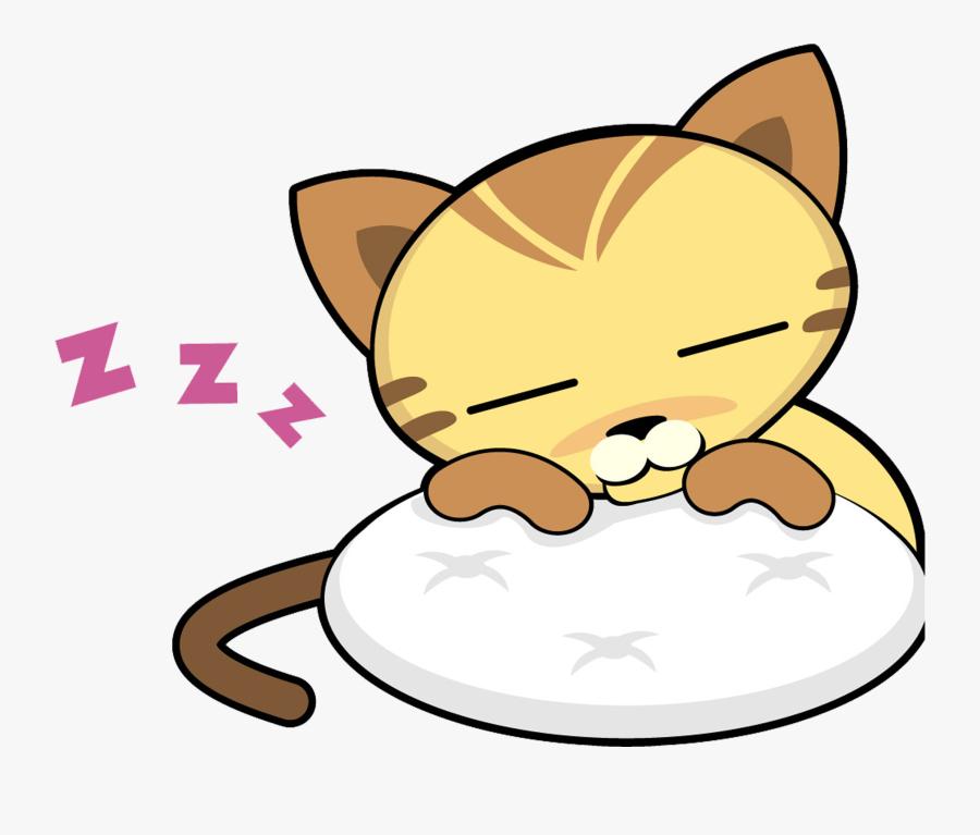 Transparent Kitten Png - Gato Dibujo Gato Dormido, Transparent Clipart