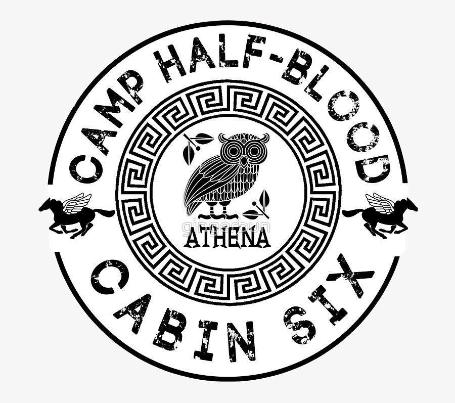 #camphalfblood #percyjackson #pjo #athena #annabethchase - Camp Half Blood Logo Cabin 3, Transparent Clipart
