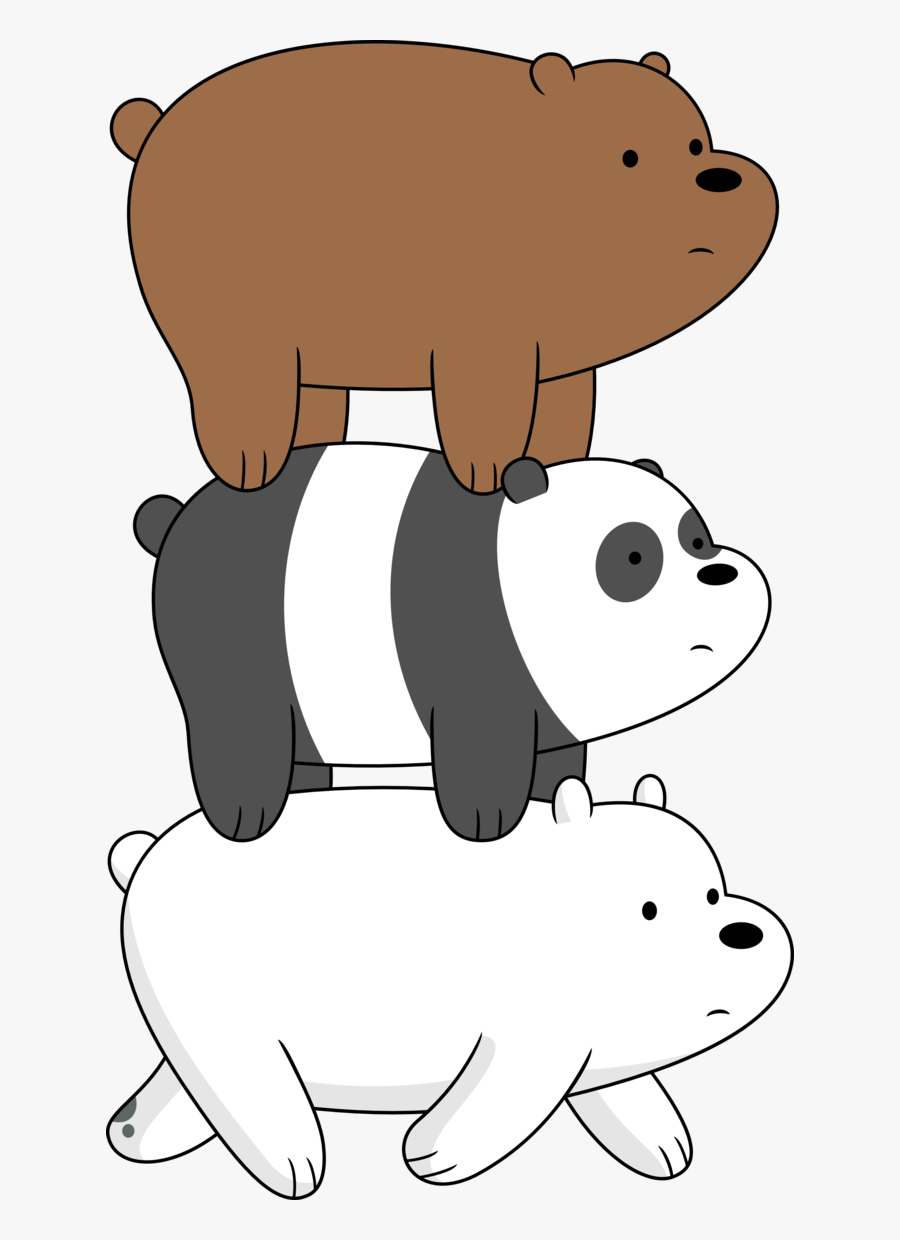 Three Bears On A Stroll Porygon Three Bears Png Png - We Bare Bears Png, Transparent Clipart