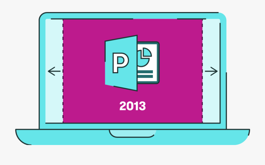 Powerpoint 2013 Widescreen By Default - Sign, Transparent Clipart