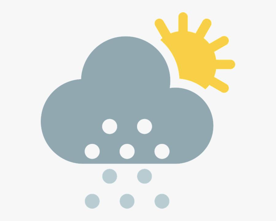 Cloud, Partly Cloudy, Sun, Snow, Winter, Weather - Cloud, Transparent Clipart