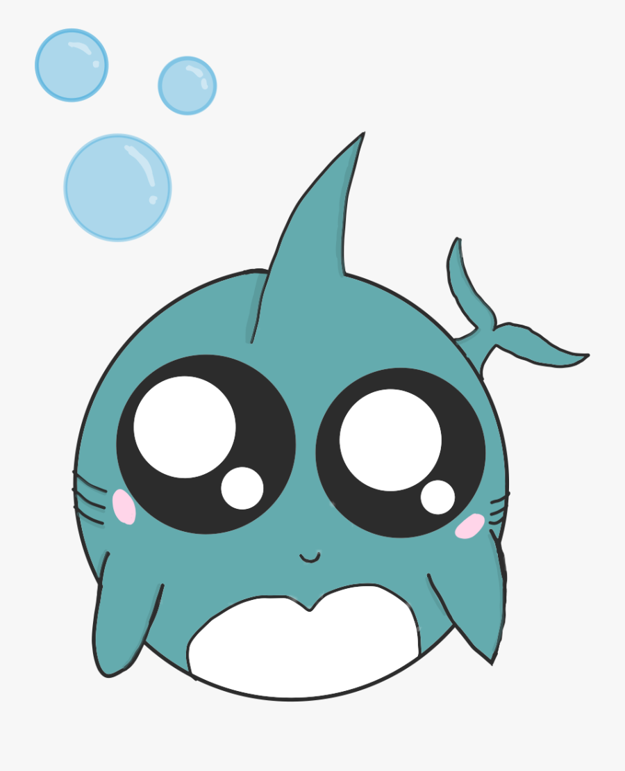 Transparent Cute Shark Clipart - Draw A Cute Shark, Transparent Clipart