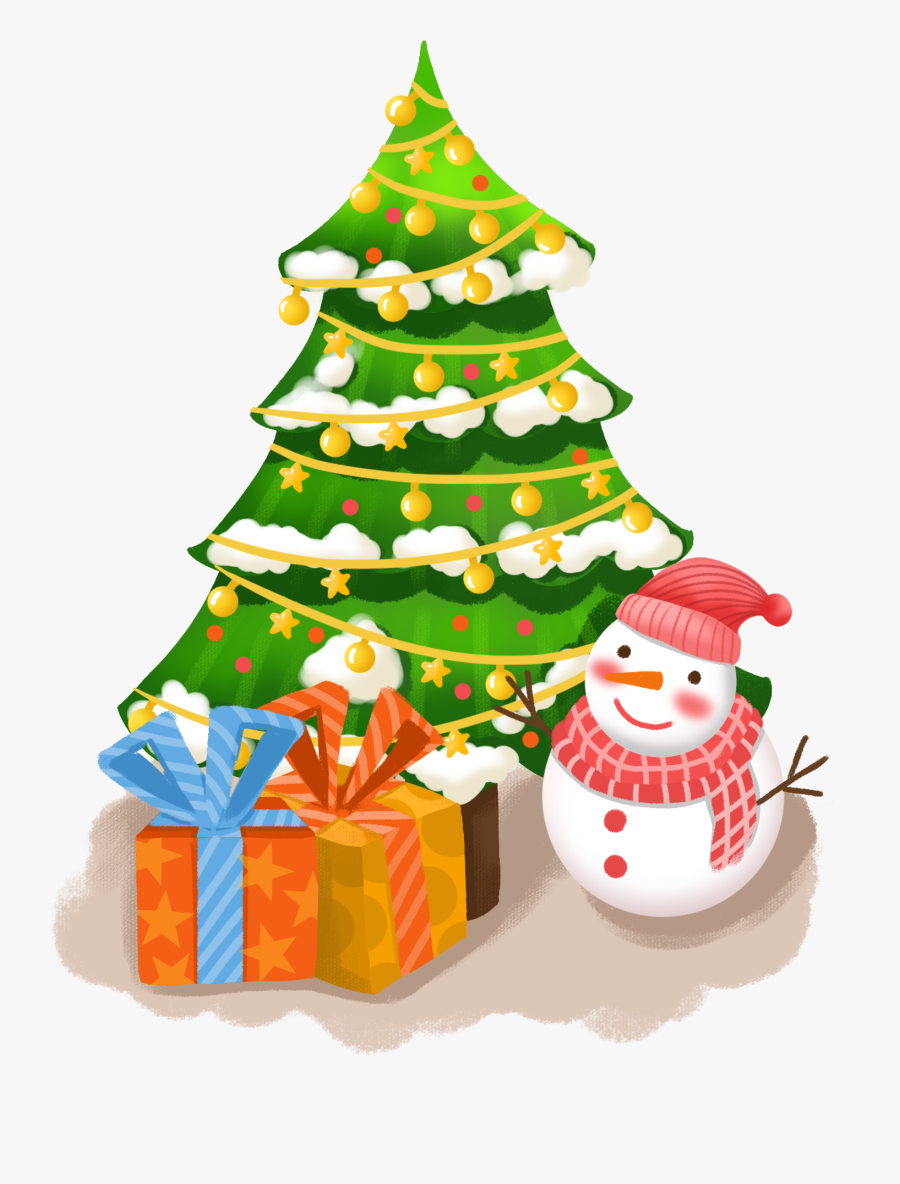 Transparent Christmas Tree With Gifts Clipart - Christmas Tree, Transparent Clipart