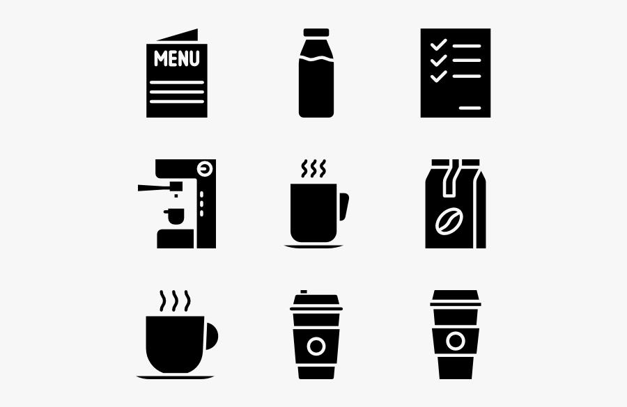 And White,parallel,clip Art,graphic Design,style - Espresso Icon Vector Free, Transparent Clipart