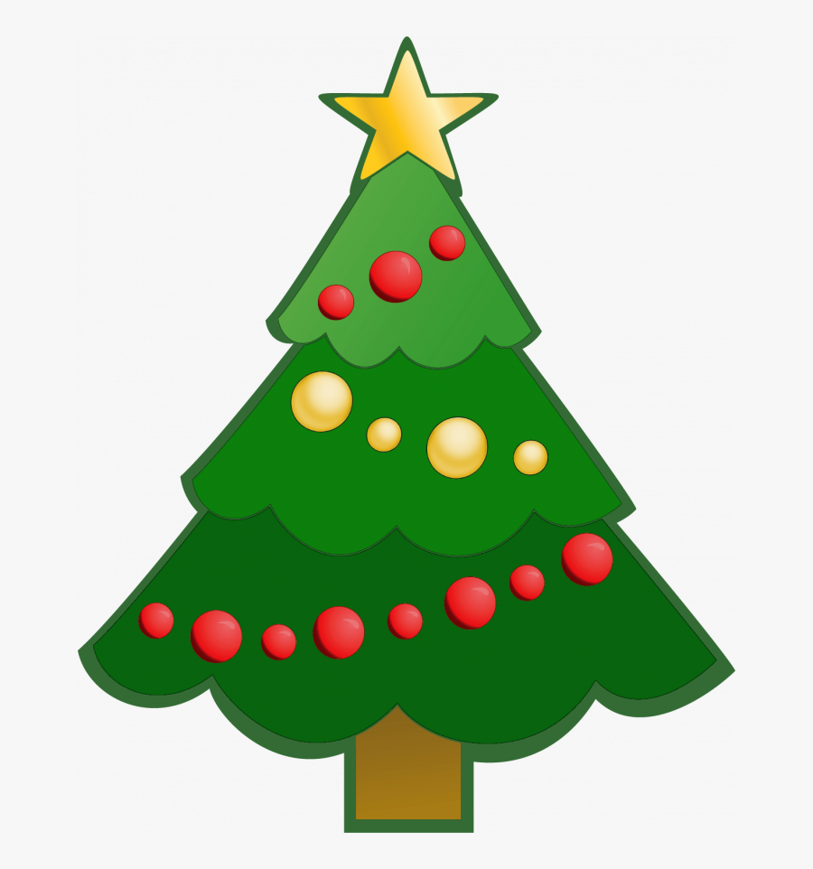 Transparent Merry Christmas Clipart Words - Clipart Simple Christmas Tree, Transparent Clipart