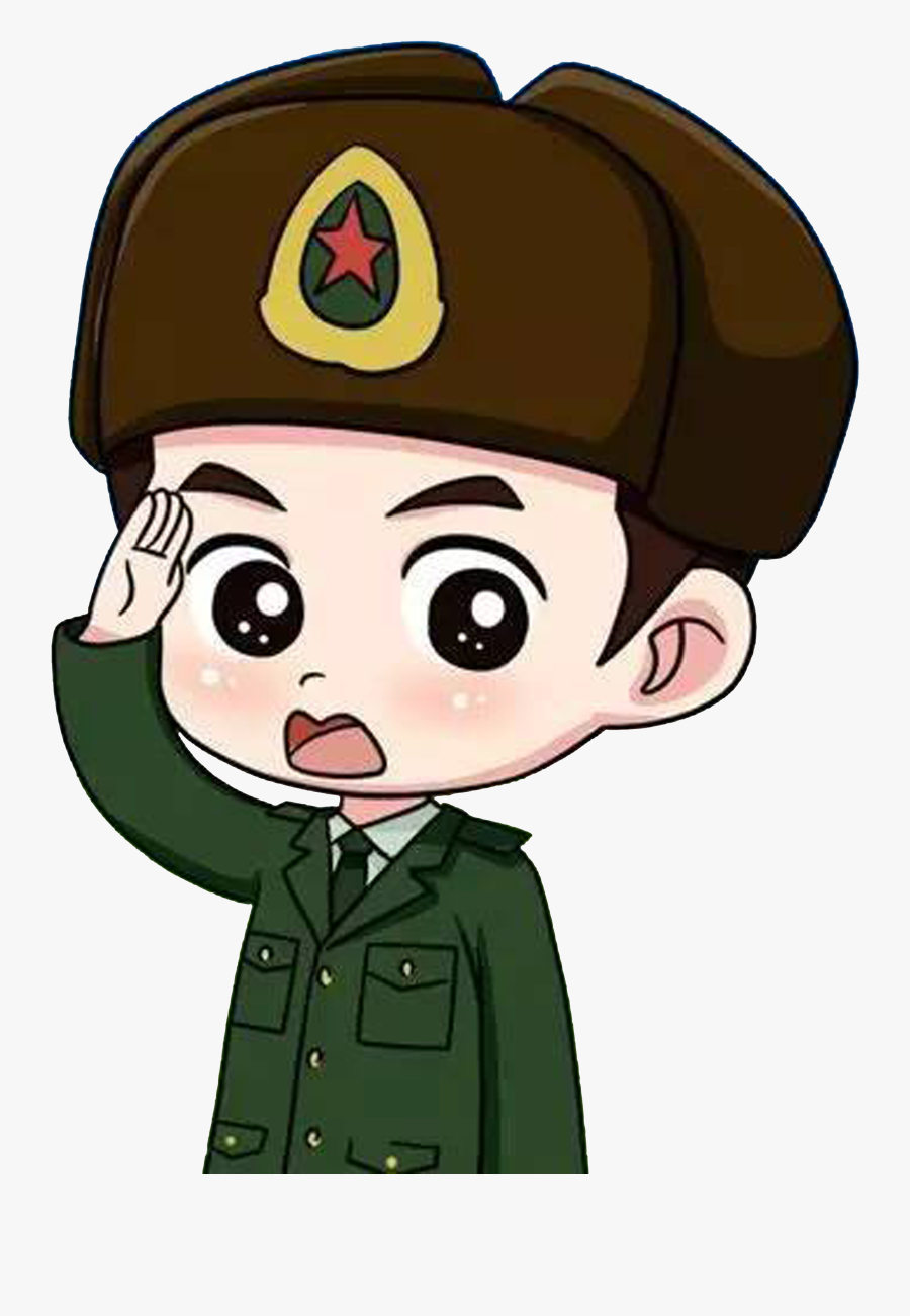Soldiers Clipart Soldier Salute - Soldier Saluting Cartoon, Transparent Clipart