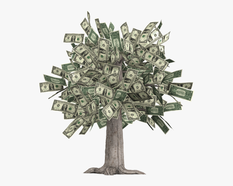 Finance Clipart Money Tree - Overflowing Money, Transparent Clipart