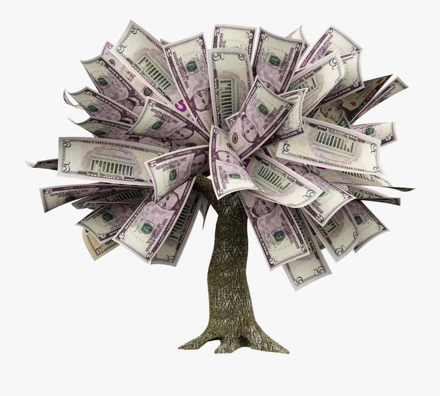 How To Grow A Money Tree - Tree Of Money Png, Transparent Clipart