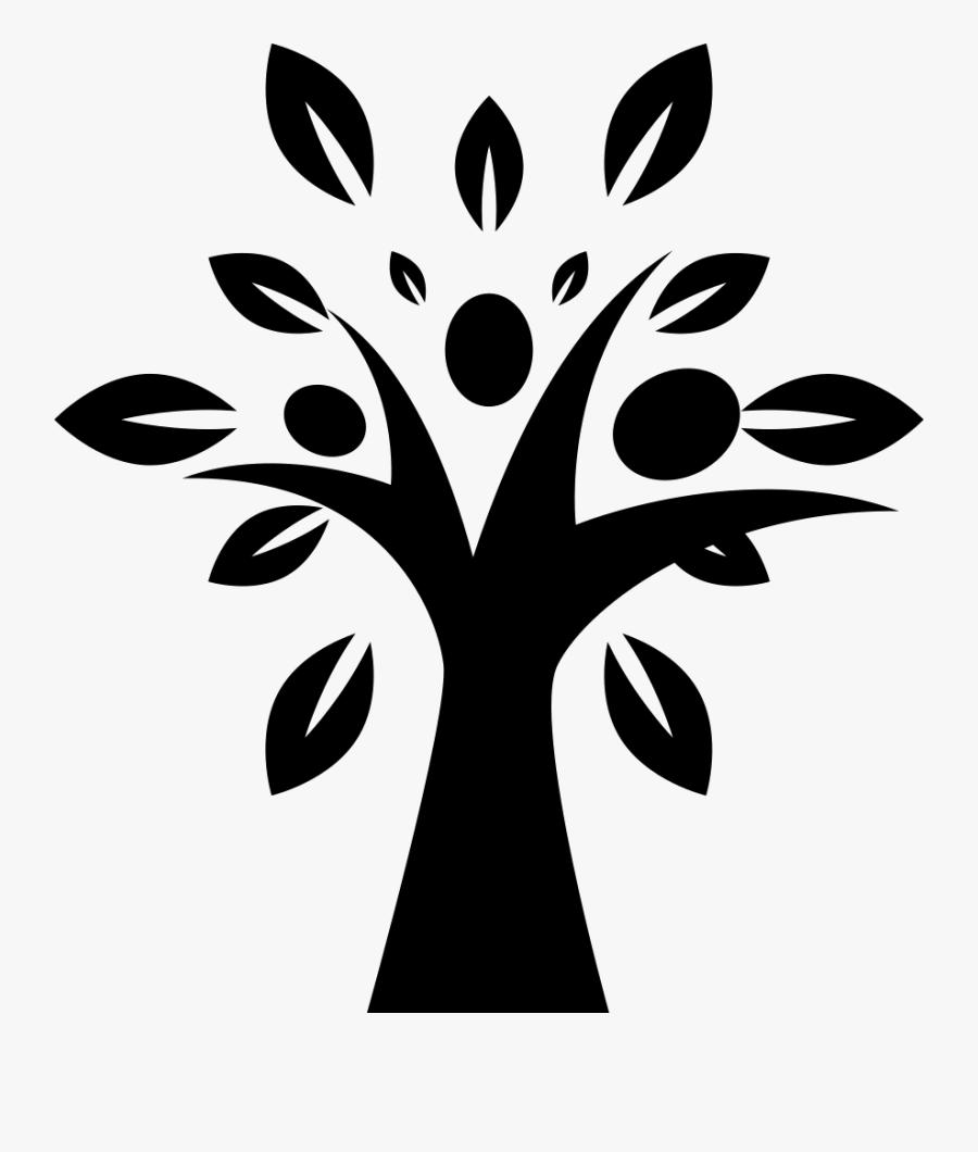Fruit Tree Shape - Tree Shape, Transparent Clipart
