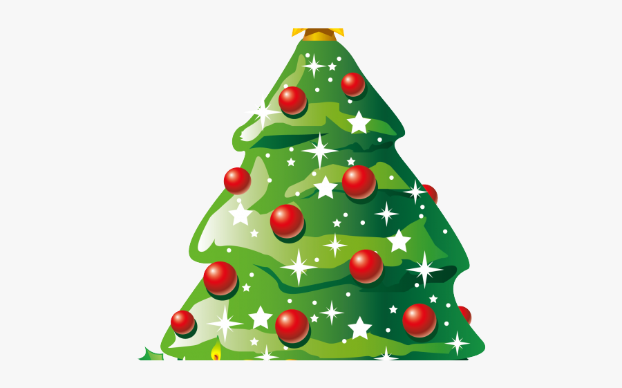 Vector Christmas Tree Png, Transparent Clipart