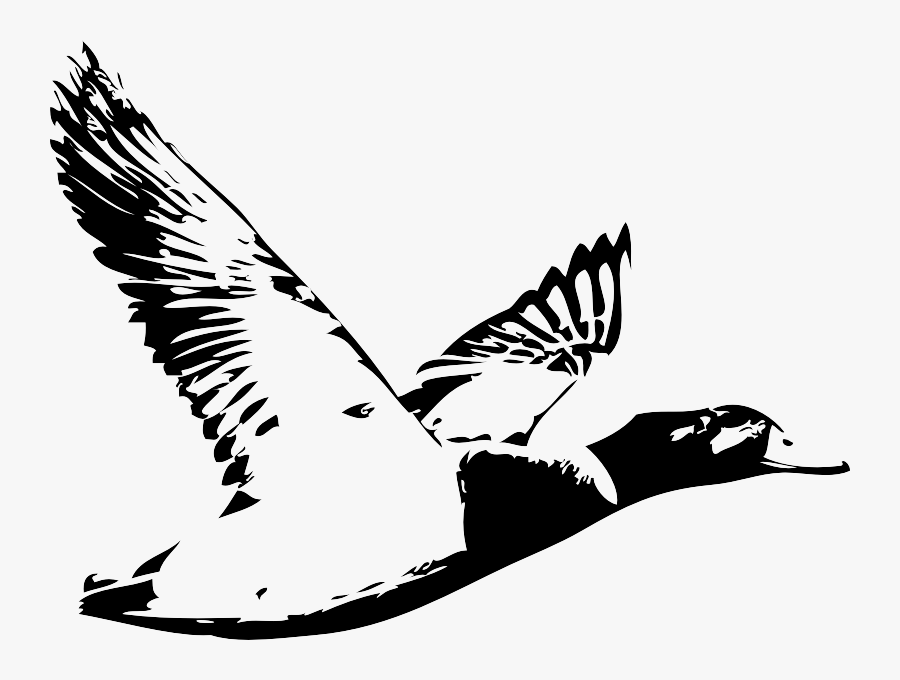 Hunting Clipart Duck Blind - Black And White Duck Hunt, Transparent Clipart