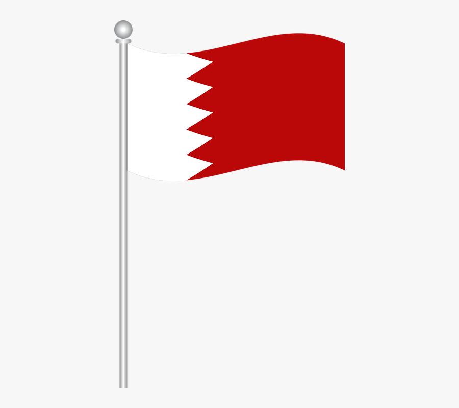 Flag Of Bahrain, Bahrain, Flag, World Flag - Bahrain Flag Vector Png, Transparent Clipart