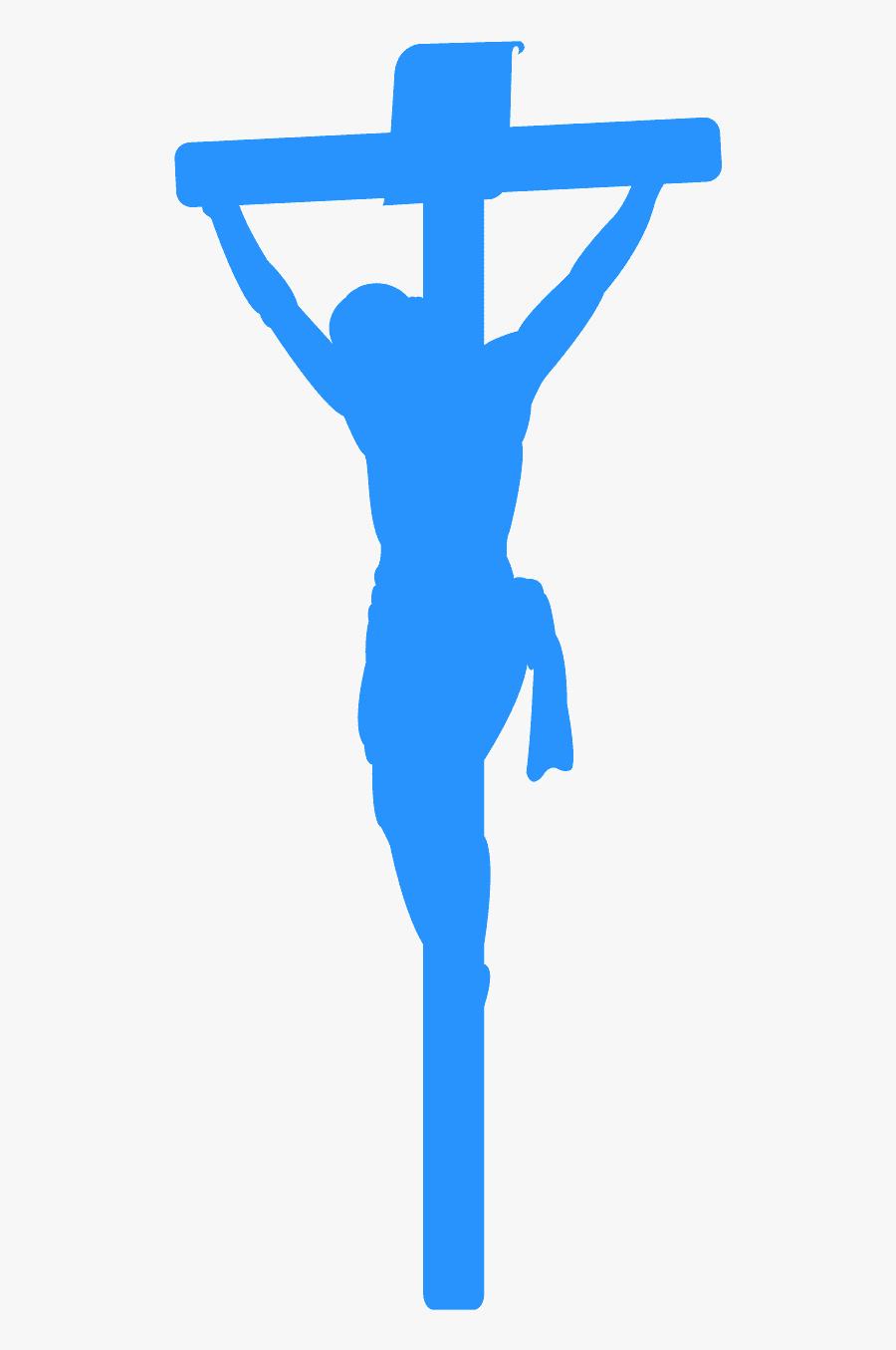 Silhouette Blue Jesus, Transparent Clipart