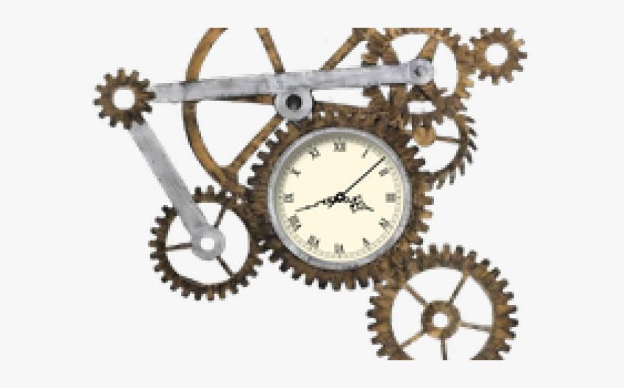 Transparent Clock Gear Clipart - Steampunk Gears Clipart Png, Transparent Clipart