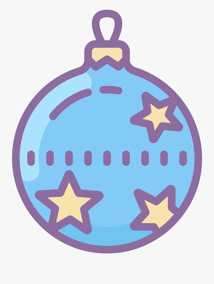 Blue Christmas Ornaments Png - Circle, Transparent Clipart