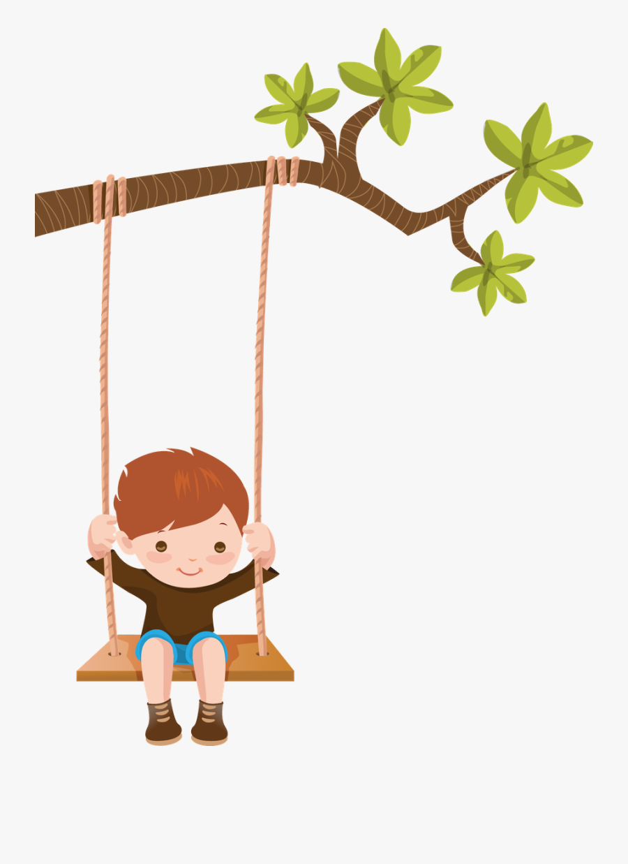 Kid On A Swing Clipart, Transparent Clipart