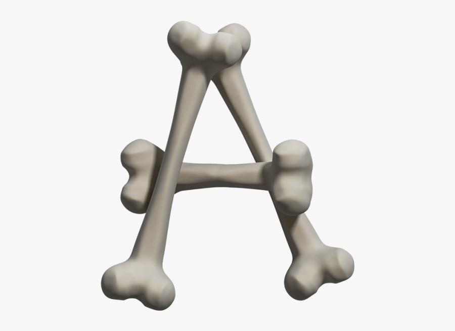 Bone Font - Bone Letter, Transparent Clipart