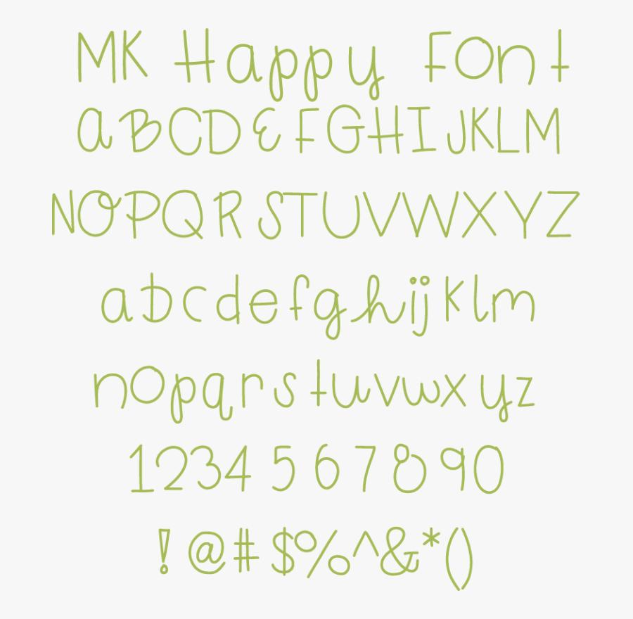 Happy Fonts, Transparent Clipart