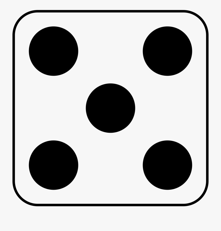 File - Dice - Dice 5, Transparent Clipart