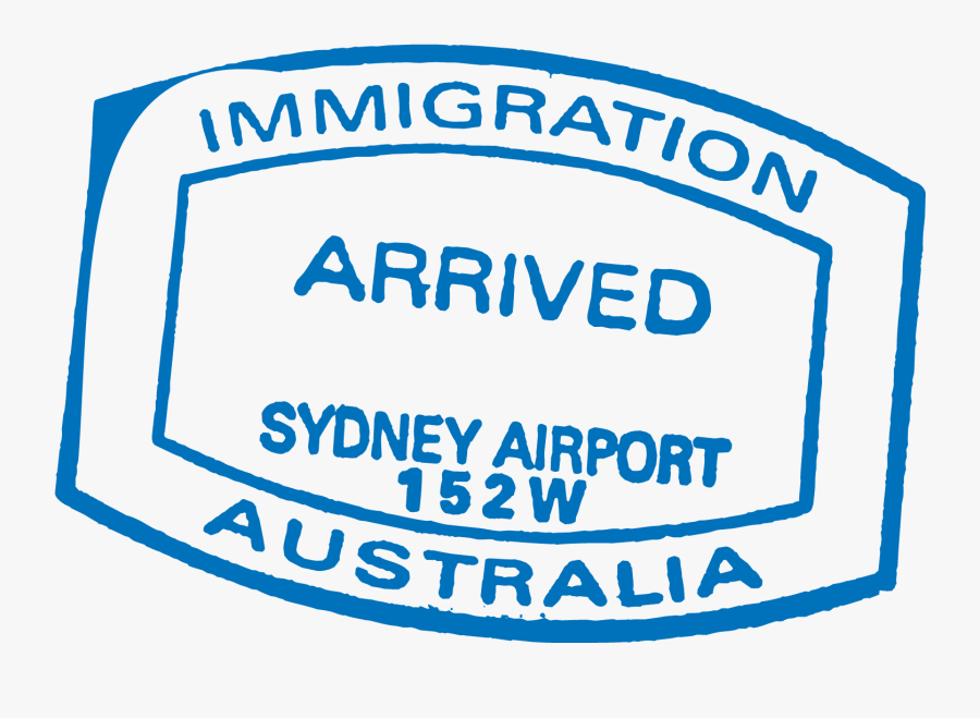 Australia Working Of Travel Visa Passport Policy Clipart - Visa Immigration Stamp Png, Transparent Clipart