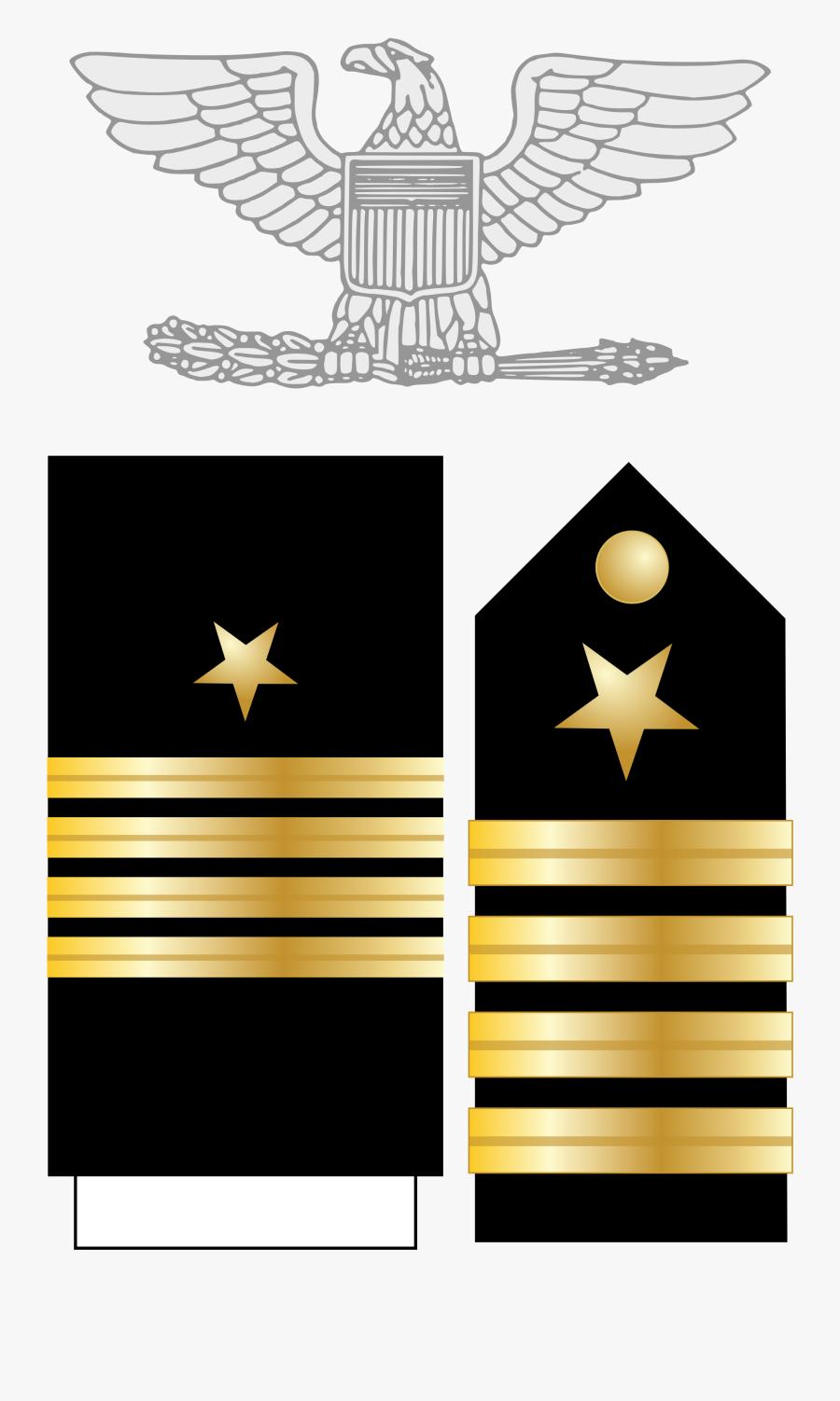 Transparent Us Navy Logo Png - Us Navy Captain Rank Insignia, Transparent Clipart