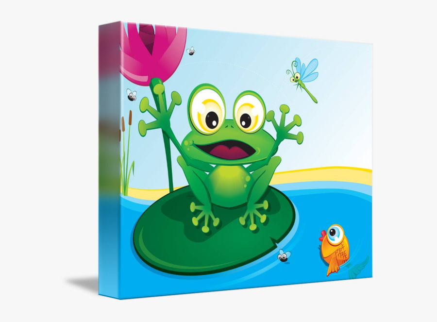 Critterz Frog By Kat - Frog In A Pond, Transparent Clipart