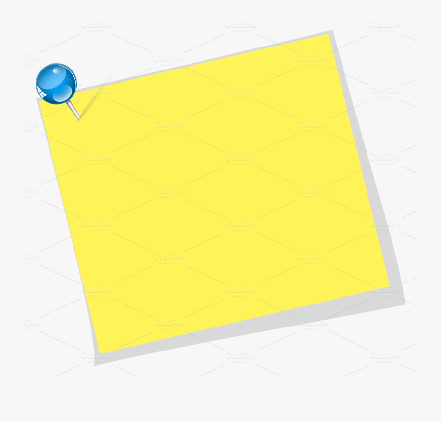 Paper Material Rectangle Yellow - Sticky Notes Transparent, Transparent Clipart