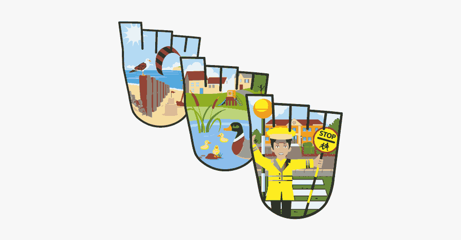 We Walk In School Clipart And Featured Illustration - Walk To School Badges, Transparent Clipart