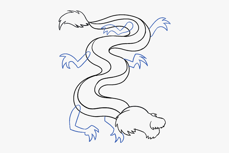 Drawn Chinese Dragon Step By Step - Drawing, Transparent Clipart