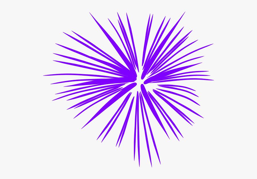 Purple Fireworks Clip Art At Clker - Purple Firework Clipart, Transparent Clipart
