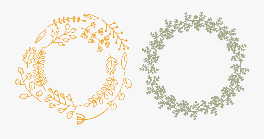 Transparent Fall Wreath Png - Fall Flowers In A Circle, Transparent Clipart