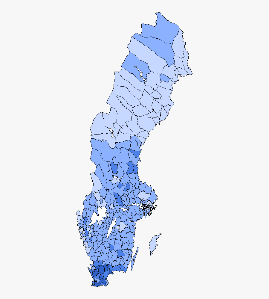 Sweden Democrats 2010 Election - Sweden Democrats Vote Map, Transparent Clipart