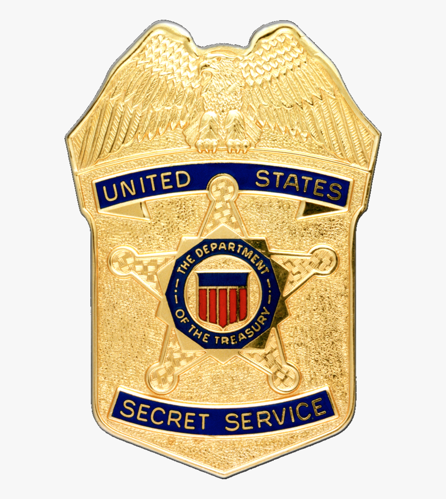 Clip Art Secret Agent Badge - Badge Us Secret Service Treasury Department, Transparent Clipart